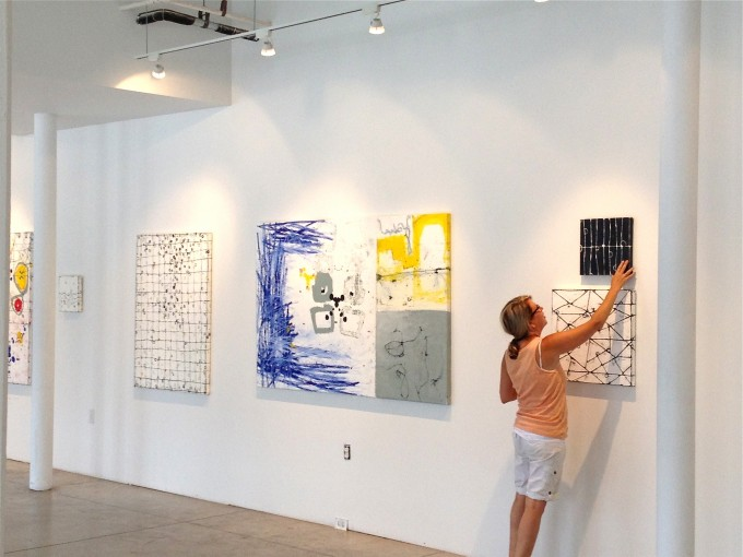 Solo Exhibition: It's All In Your Head, Installation In Process