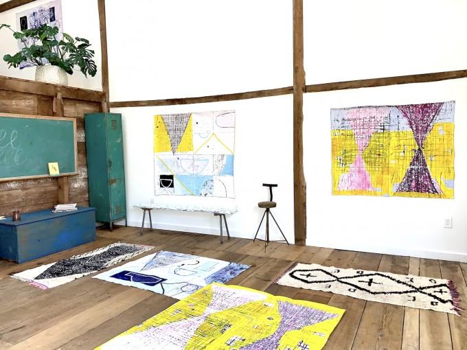 Studio Shot: Domestic Matters + Hourglass Paintings